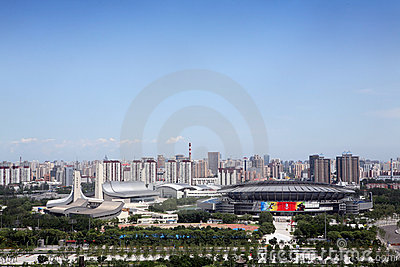 Beijing olympic stadiums Editorial Photo