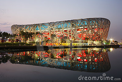 Beijing Olympics - National Stadium Editorial Photo