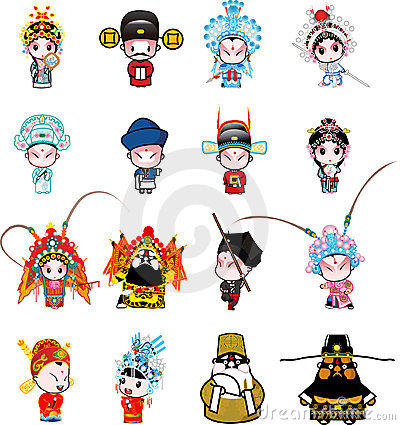 Free Beijing Opera Cartoon Stock Images - 7015054