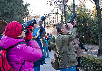 Beijing photography enthusiasts group activities Editorial Photo
