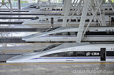 Beijing Railway Station,High Speed ​​Rail Editorial Stock Image