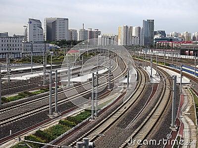 Beijing Railway Station,High Speed Rail Editorial Photography