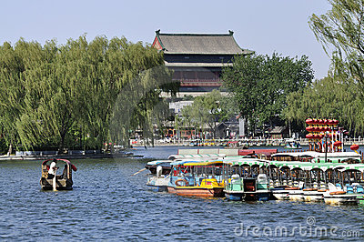 Beijing Shichahai ,Beijing Travel Editorial Stock Image