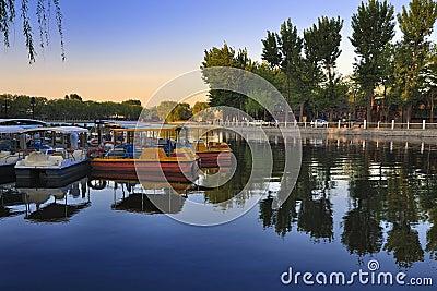 Beijing Shichahai lake,Beijing Travel Editorial Photography