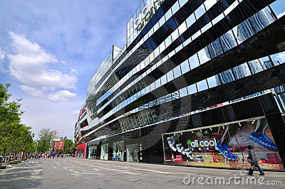 Beijing shopping-Adidas largest flagship store Editorial Stock Photo