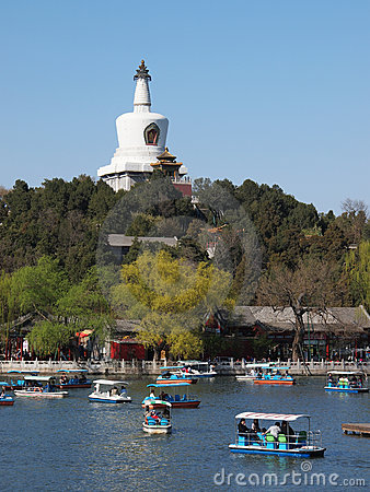 Beijing skyline,Beihai Park, Editorial Stock Photo