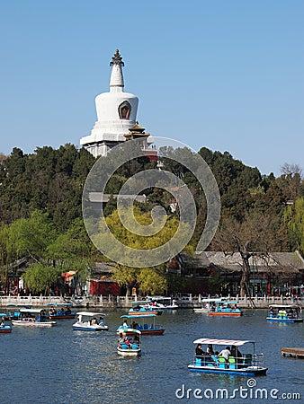 Beijing skyline,Beihai Park, Editorial Stock Photo