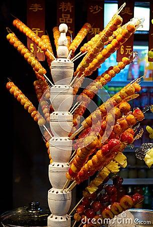 Free Beijing Street Snacks - Sugar Coated Fruits Stock Photos - 16285303