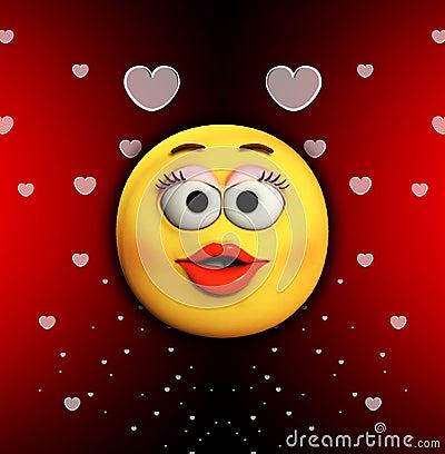 Beijo dos desenhos animados do amor