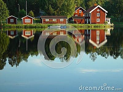 Beira do lago sueco