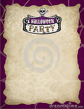 Beira do partido de Halloween