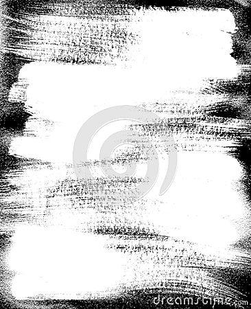 Beira do quadro e linhas esboço. pintura áspera.
