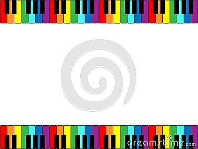 Beira do teclado de piano