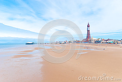Beira-mar de Blackpool Imagem Editorial
