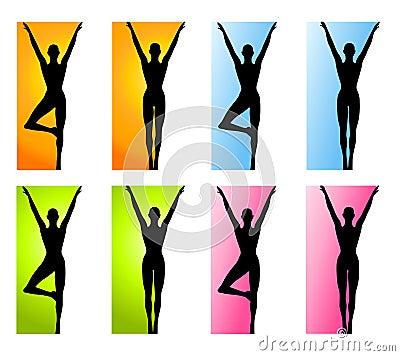 Beiras da ioga ou da dança da aptidão