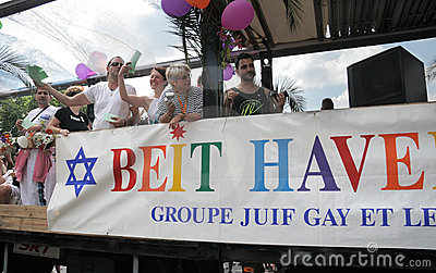 Beit Haverim at Paris Gay Pride 2010 Editorial Photo