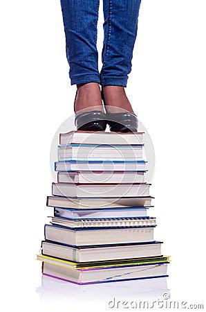 Het beklimmen van de stappen van kennis
