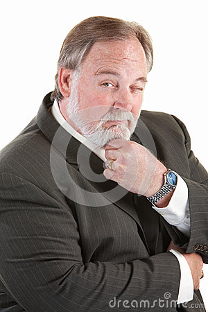 Bekväm man för skägg