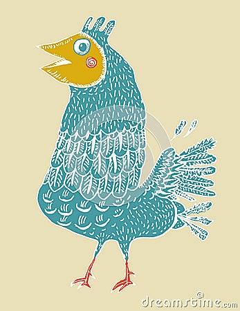 Belachelijk vogeltje (vector)