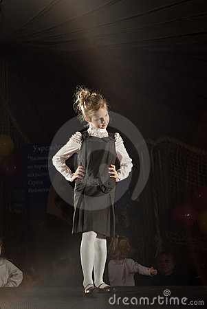 Belarus Fashion Week. Child Fashion Editorial Image
