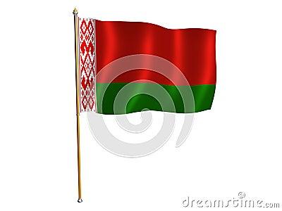Belarus silk flag