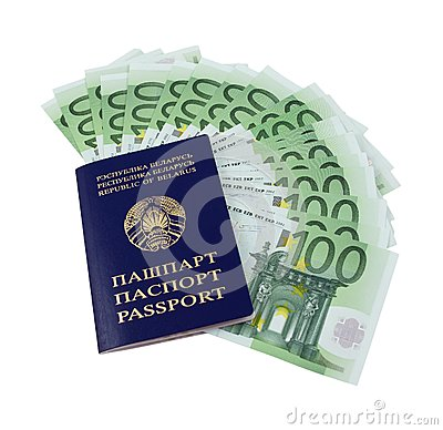 Belarusian passport and money