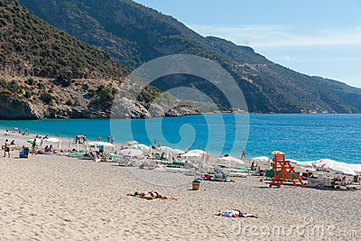 Belcekiz Beach, Oludeniz, Turkey Editorial Photography