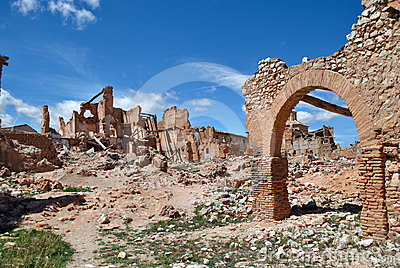 Belchite village devastated by war