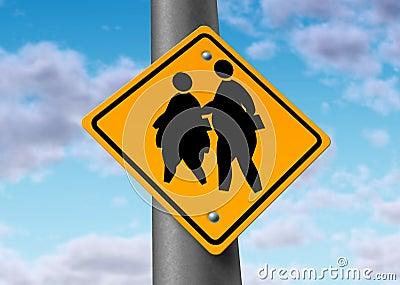 Beleibte fette Schulkind-Korpulenzübergewichtkinder
