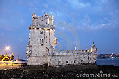 Belem Tower at dusk, Lisbon