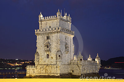 Belem tower at night, Lisbon