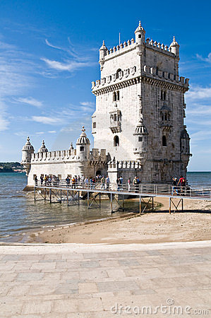 BELEM TOWER (Torre de Belem), Lisbon, Portugal Editorial Stock Image