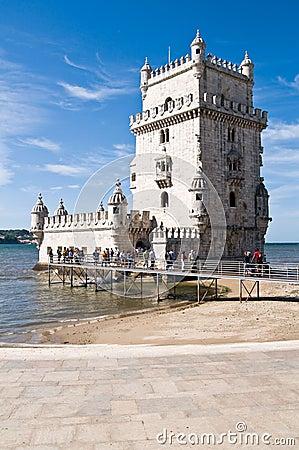 BELEM TOWER (Torre de Belem), Lisbon, Portugal Editorial Stock Image