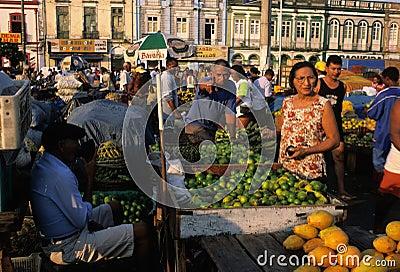 BELEM - Ver o Peso Market Editorial Stock Photo
