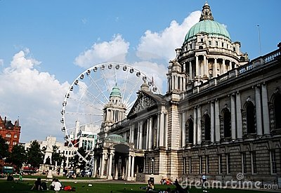 Belfast City Hall and Giant Wheel