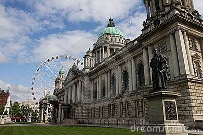 Belfast City Hall and Ferris Wheel