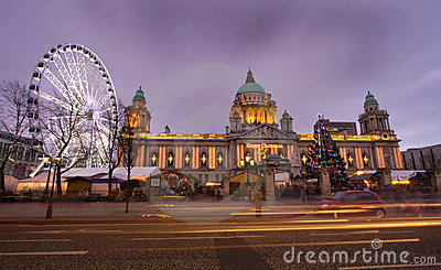 Belfast eye and city hall
