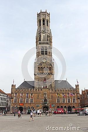 Belfort of Bruges Editorial Image