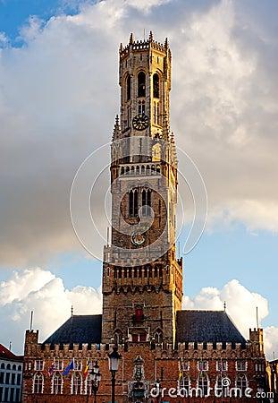 Belfort tower in Brugge, Belgium