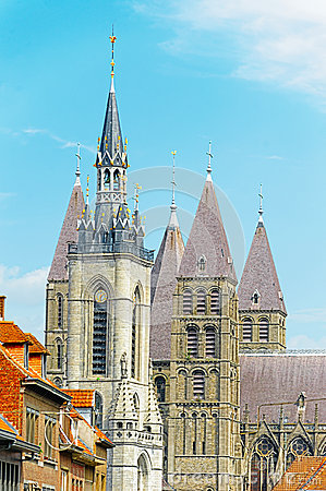Belfry and Cathedral of Tournai, Belgium