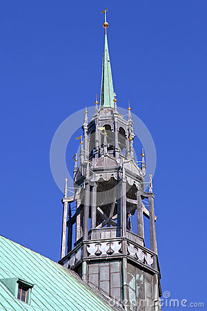 The belfry of the church Jakobi in Luebeck
