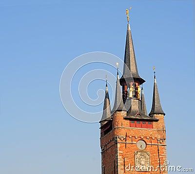 Belfry in courtrai, belgium, europe