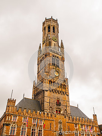 Free Belfry Tower Of Bruges Royalty Free Stock Images - 62382189