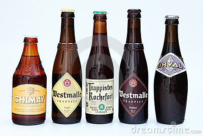 Belgian beers Editorial Stock Photo