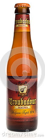 Free Belgian Indian Pale Ale Beer Troubadour Magma Isolated On White Stock Images - 90184454