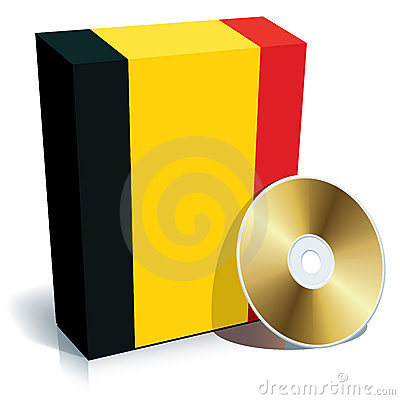 Belgian software box and CD