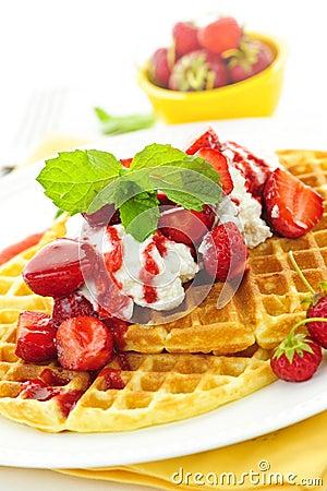 Free Belgian Waffles Stock Image - 21221751