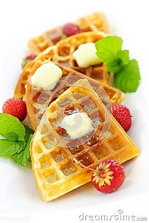 Free Belgian Waffles Stock Photos - 21221813