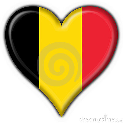 Belgium button flag heart shape