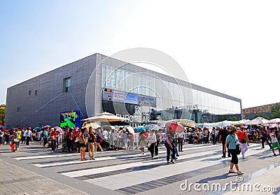 Belgium-EU Pavilion in Expo2010 Shanghai China Editorial Stock Image